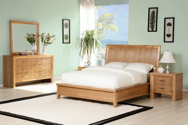 feng-shui-schlafzimmer-einrichten-hölzernes-bett