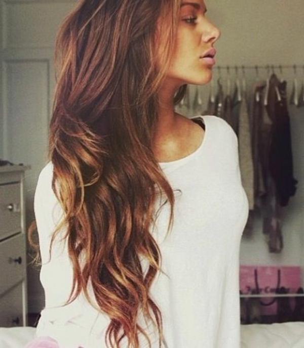 Braune Haare Lange Frisur Neue