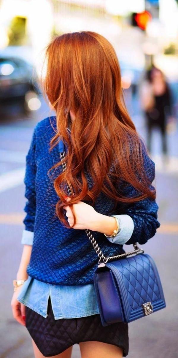 Sexy lange Haare Frau