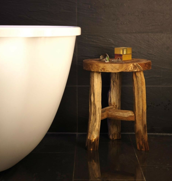 badezimmer hocker holz ~ innen- und möbel inspiration, Wohnzimmer dekoo