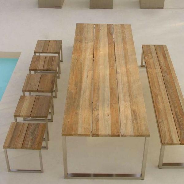 Gartenbank mit tisch die neueste innovation der for Tisch eins design studio