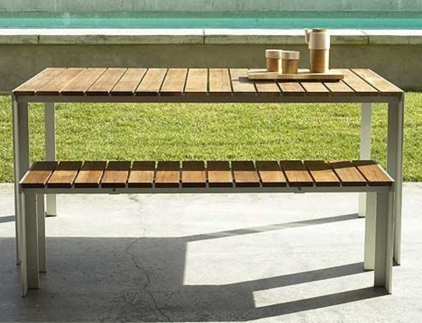 gartenbank-mit-tisch-moderne-außengestaltung - sehr cooles und schönes bild