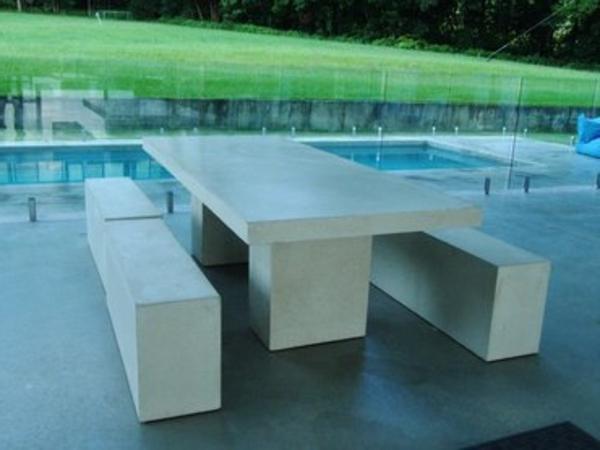 Gartenbank modern weiss  Gartenbank mit Tisch: 100 super Bilder! - Archzine.net