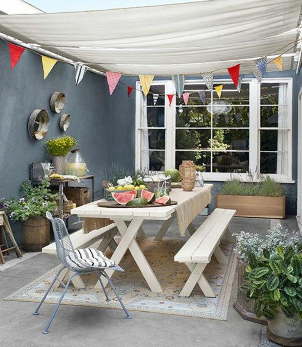 gartenbank mit tisch und dach 030853 eine. Black Bedroom Furniture Sets. Home Design Ideas