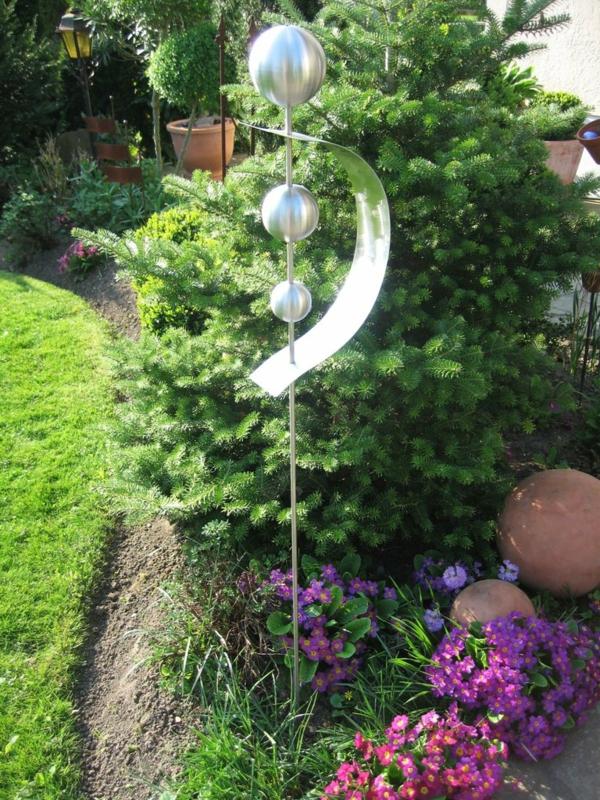 Gartendeko aus Edelstahl: 41 super Fotos!