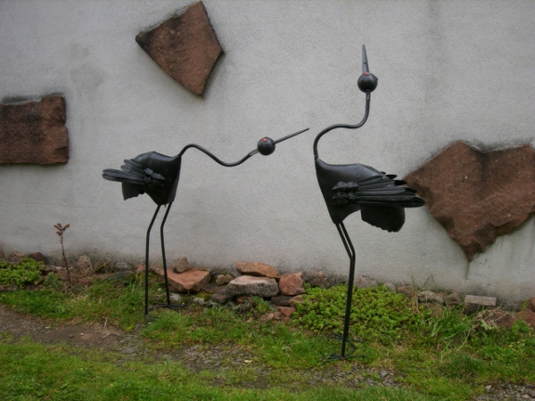 Vogel aus metall fur den garten for Gartendeko metall vogel