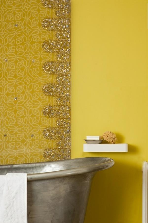 gelbe-Wand-modernes-Interior-Design-wunderbare-Wandgestaltung