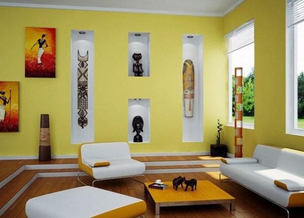 Beautiful Wohnzimmer Farben Gelb Contemporary - House Design Ideas