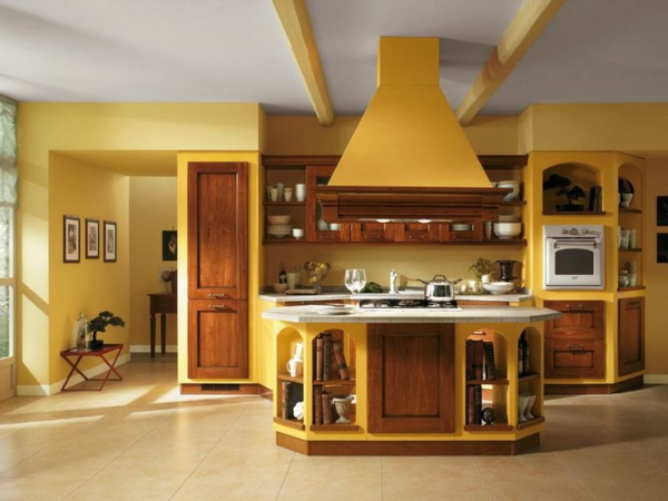 gelbe-küchen-wandfarbe-und-super-gestaltung
