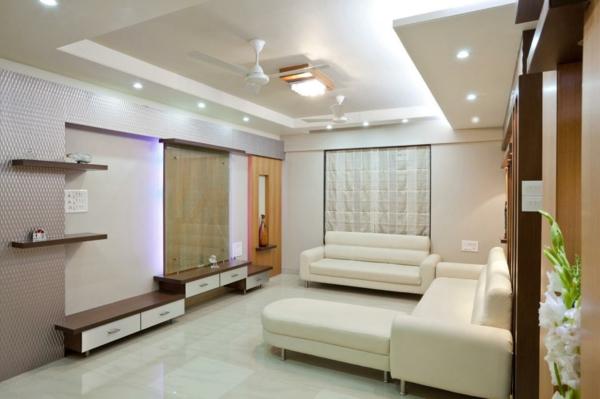 wohnzimmer olivgrün:gemütliches-Wohnzimmer- Interior-Design-Beleuchtung