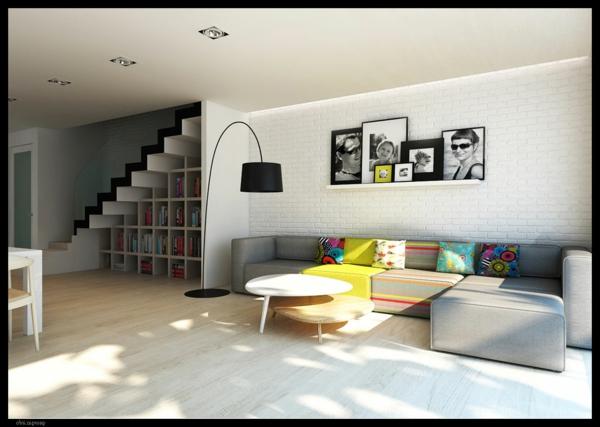 wohnzimmer olivgrün:gemütliches-Wohnzimmer- Interior-Design–Wohnzimmer-Einrichtung