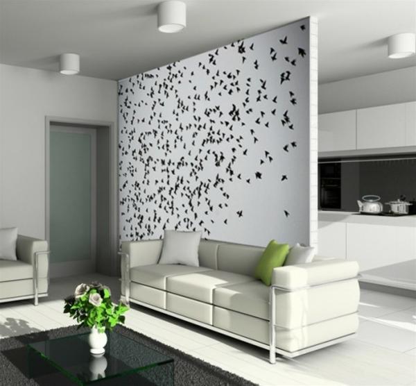 gemütliches-Wohnzimmer- Interior-Design-schönes-Wandbild