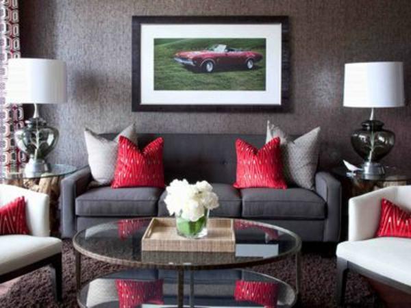 Wohnzimmer Wohnzimmer Farben Farbe Wohnzimmer Graues Sofa