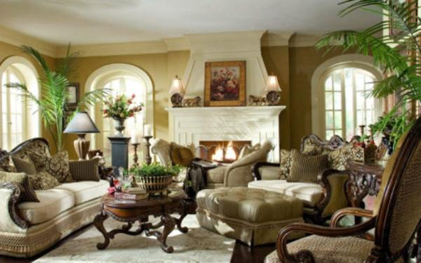 gestaltungsmöglichkeiten-für-wohnzimmer-beige-farben - interessante gestaltung