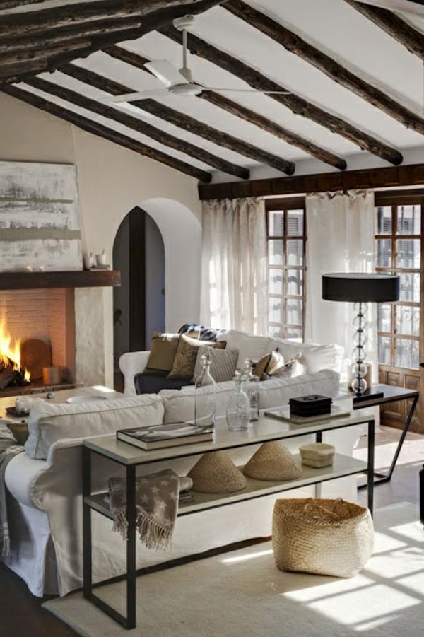 gestaltungsmöglichkeiten-für-wohnzimmer-cool-erscheinen - bäuerlicher look