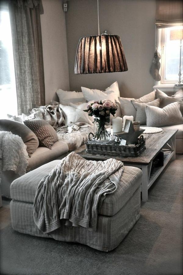 gestaltungsmöglichkeiten-für-wohnzimmer-eine-hängende-lampe