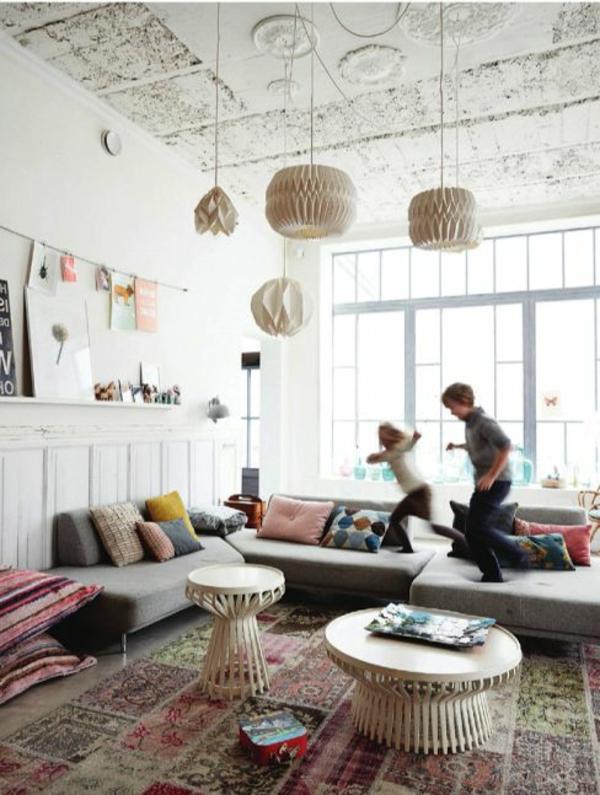 gestaltungsmöglichkeiten-für-wohnzimmer-hängende-lampen