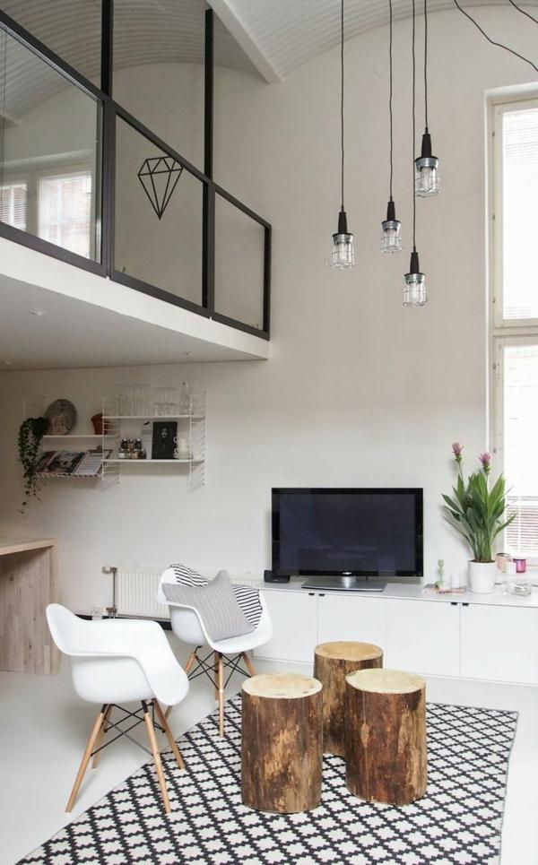 lampen hohe r ume wohnzimmer reihe. Black Bedroom Furniture Sets. Home Design Ideas