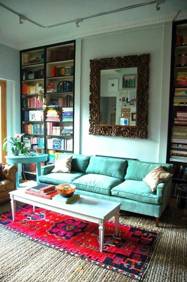 gestaltungsmöglichkeiten-für-wohnzimmer-interessantes-sofa-in-blau