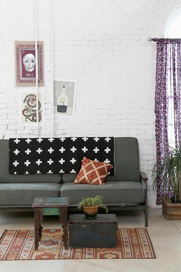gestaltungsmöglichkeiten-für-wohnzimmer-modernes-graues-sofa