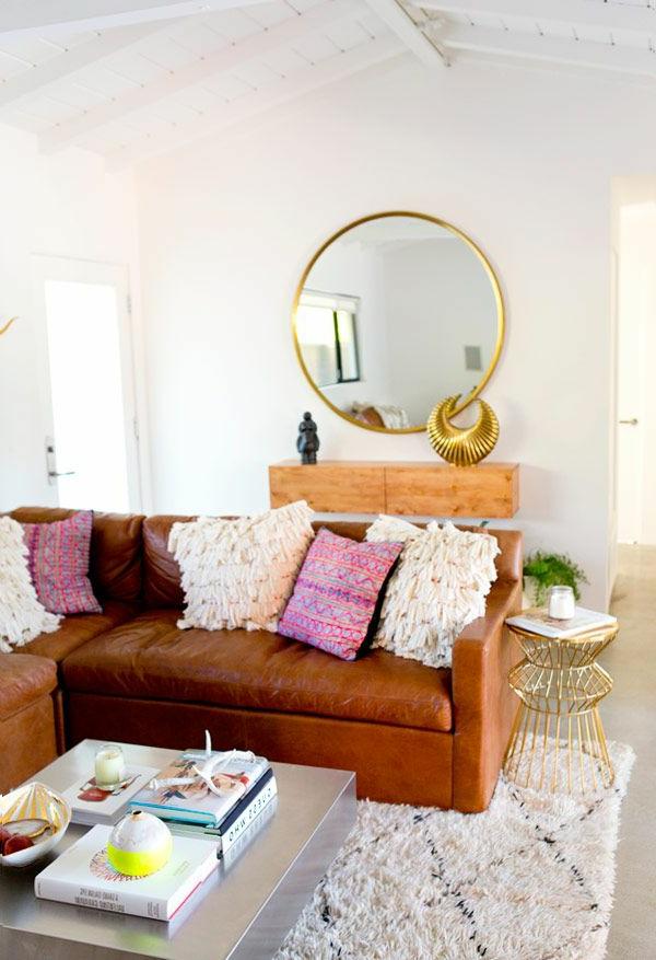 gestaltungsmöglichkeiten-für-wohnzimmer-runder-spiegel