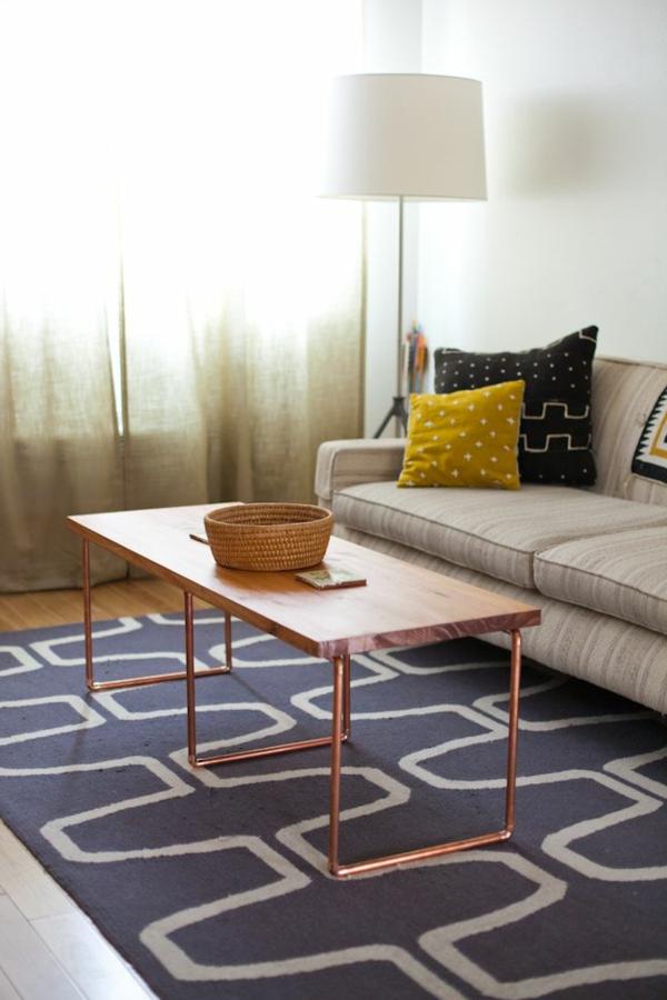 gestaltungsmöglichkeiten-für-wohnzimmer-schöner-teppich - modern und kreativ