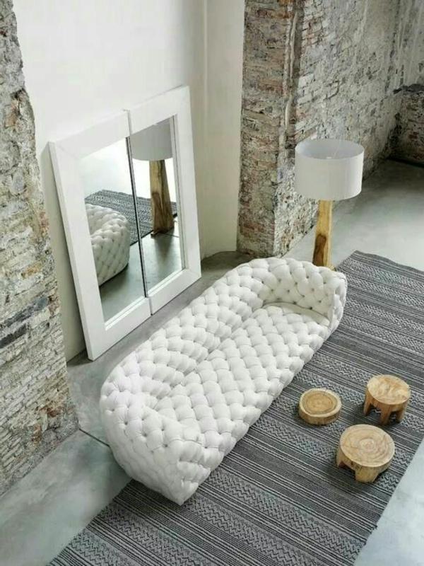 120 neue gestaltungsm glichkeiten f r wohnzimmer for Sofa nordischer stil