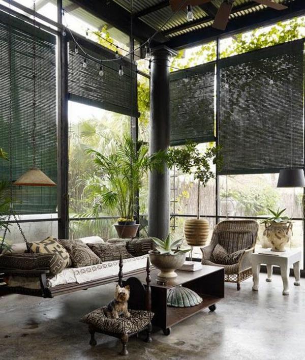 gestaltungsmöglichkeiten-für-wohnzimmer-schwarze-jalousien - richtig cool