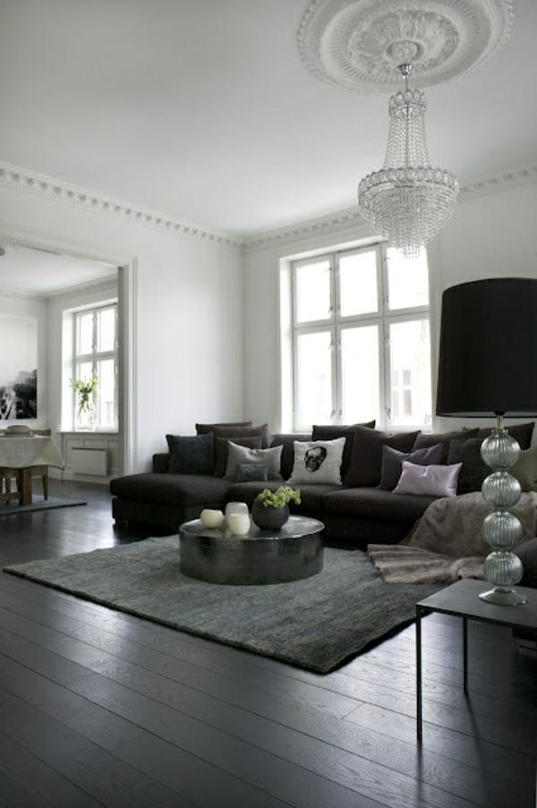 gestaltungsmöglichkeiten-für-wohnzimmer-schwarze-möbel- wunderschön erscheinen - einfach cool