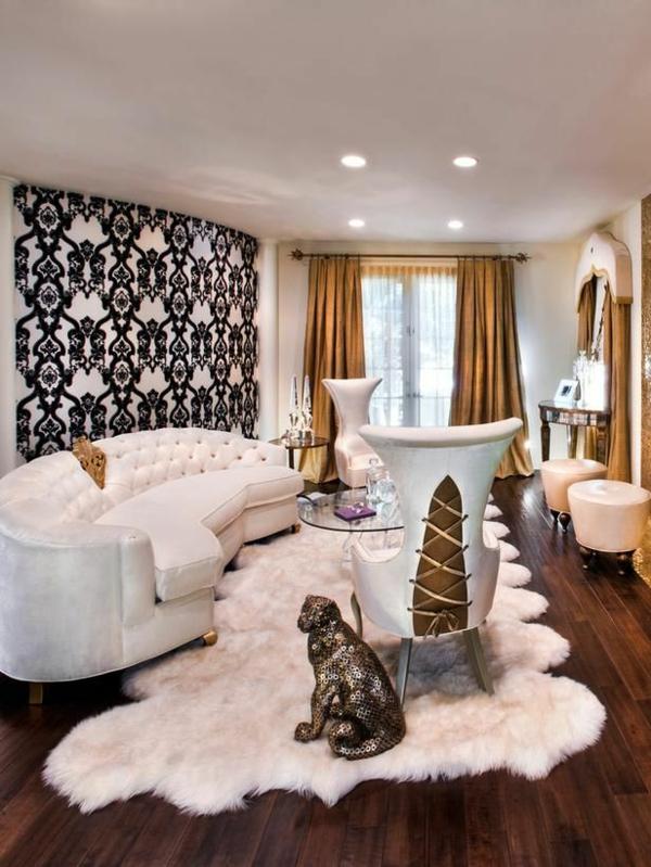gestaltungsmöglichkeiten-für-wohnzimmer-weißer-teppich