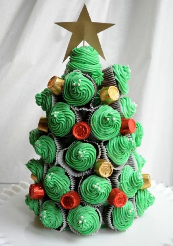 grüne-Cupcakes-wie-Weihnachtsbäume