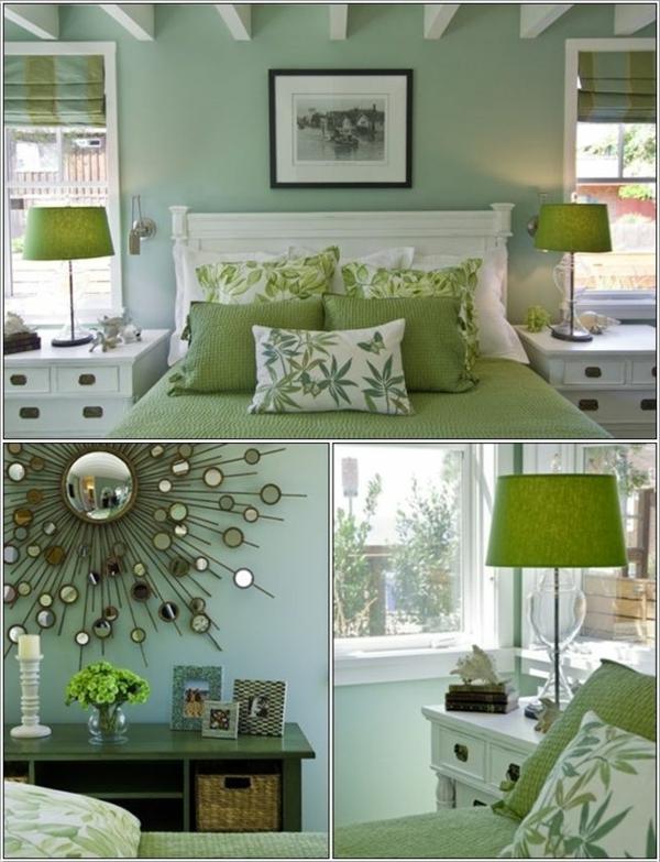 55 Ideen für grüne Wandgestaltung im Schlafzimmer ...