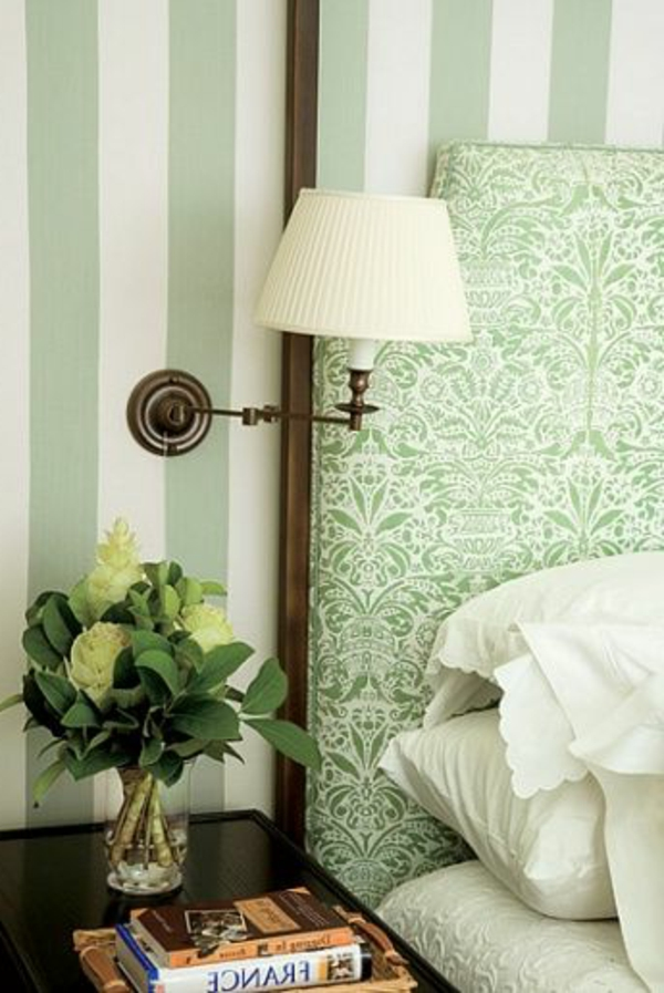 grüne-wandgestaltung-für-schlafzimmer-gemütliches-ambiente