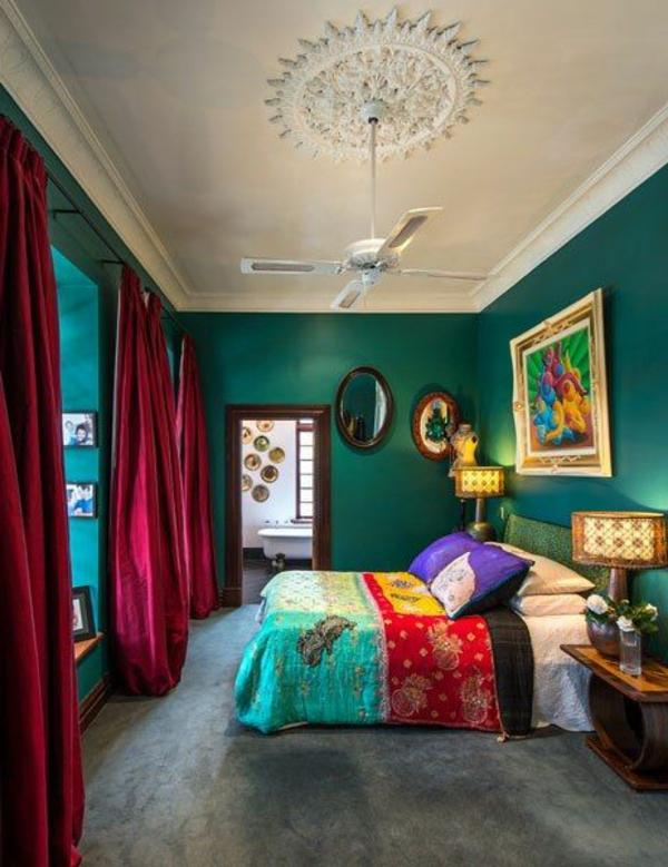 grüne-wandgestaltung-für-schlafzimmer-süß-erscheinen