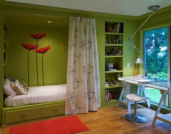 grüne-wandgestaltung-für-schlafzimmer-super-aussehen