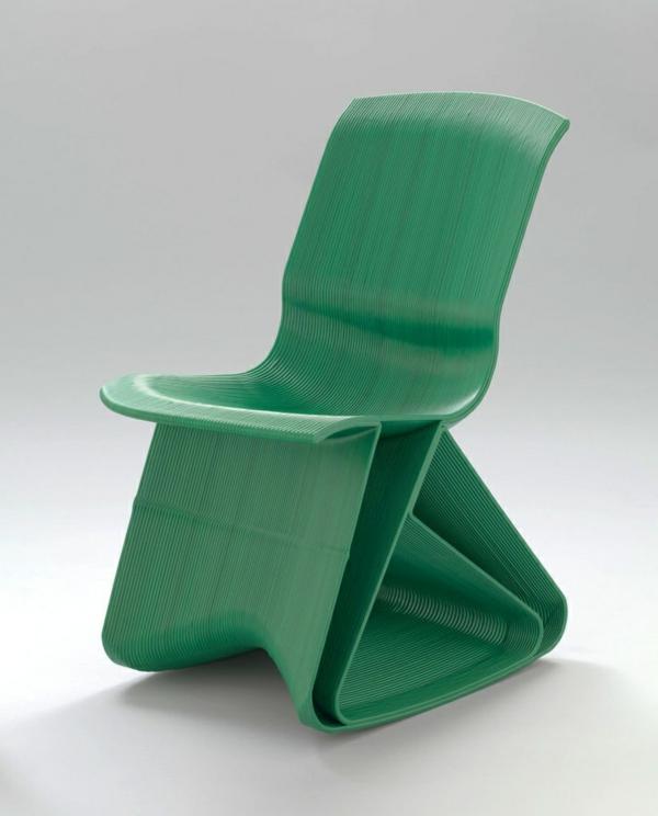 grüner--Designstuhl-mit-erstaunlichem-Design