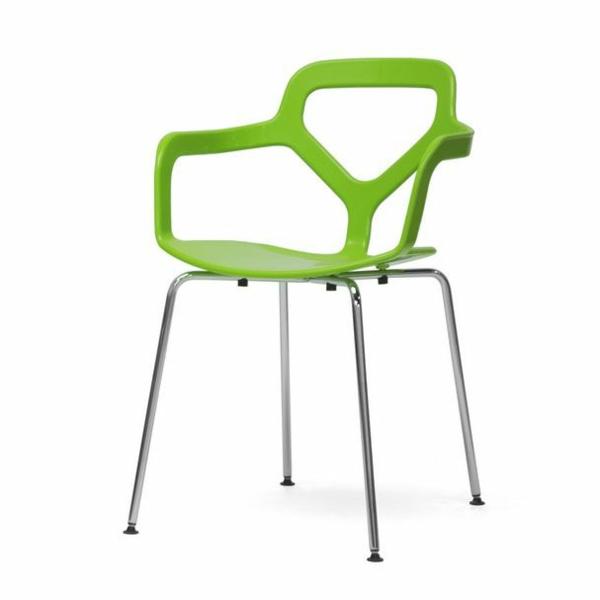 grüner--designer-Stuhl-mit-ultra-modernem-Design