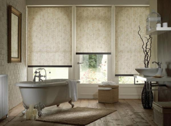 80 super Designs von Rollos für Badfenster! - Archzine.net