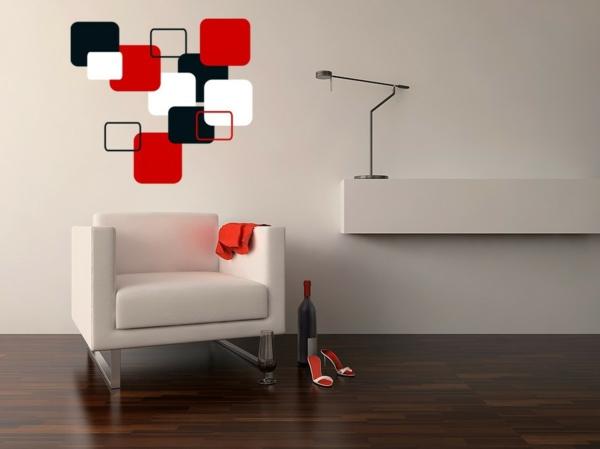 innovative-Ideen-für-eine-fantastische-Wandgestaltung-Schwart-Weiß-Rot