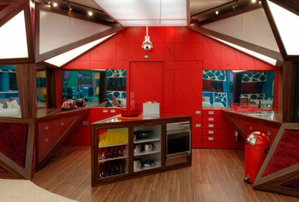 vorh nge wohnzimmer orange rote wandfarbe