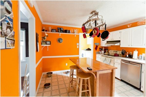 interessante-schöne-orange-küchen-wandfarbe