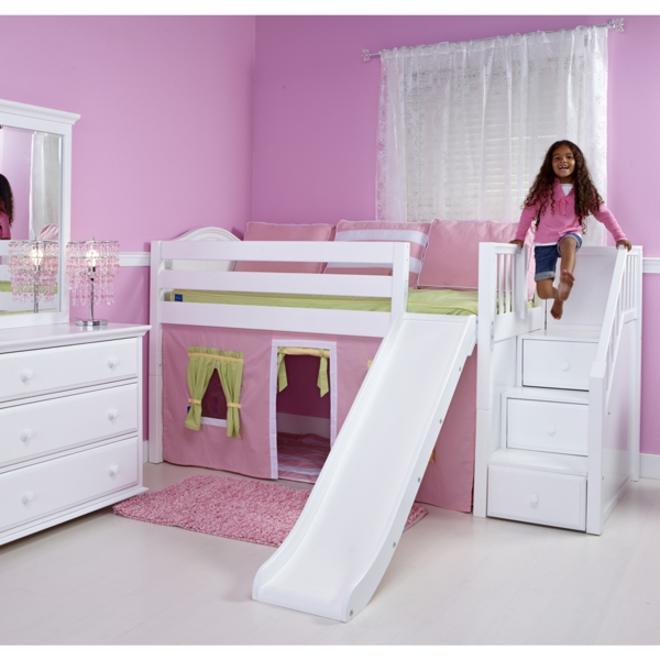 coole kinderzimmer mit hochbett mit rutsche das beste. Black Bedroom Furniture Sets. Home Design Ideas