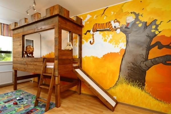 Kinderzimmer mit hochbett und rutsche 50 fotos - Coole kinderzimmer ...