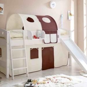 Kinderzimmer mit Hochbett und Rutsche: 50 Fotos!