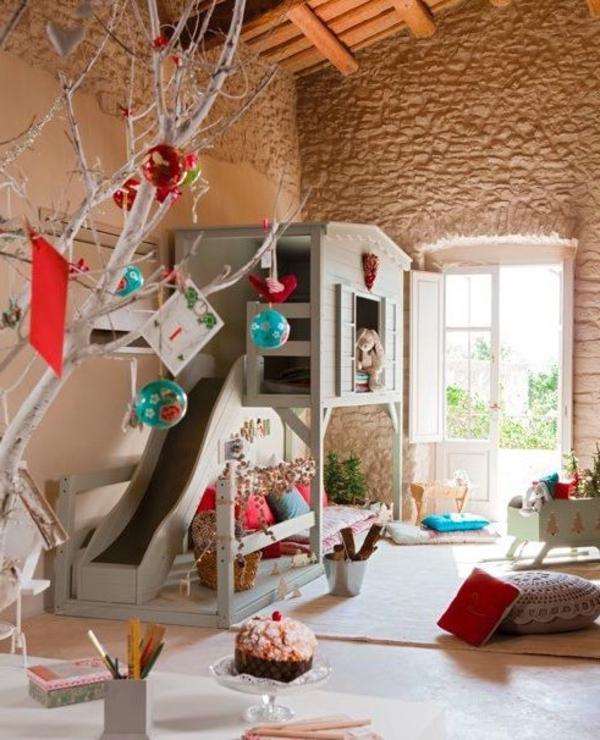 Kinderzimmer mit Hochbett und Rutsche: 50 Fotos ...