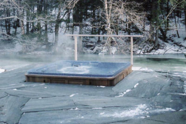 jacuzzi im winter - super interessant