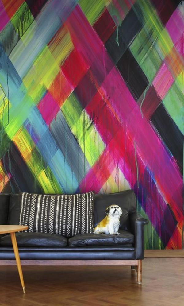 kreative-Zimmergestaltung-in-Neonfarben-Wandgestaltungsidee