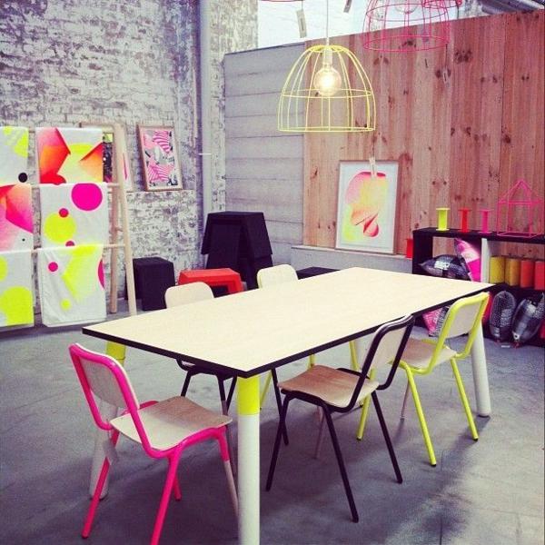 Faszinierendes design in neon farbe for Kreative zimmergestaltung