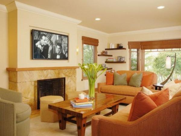 farbgestaltung wohnzimmer orange:wunderschöne orange farbgestaltung ...