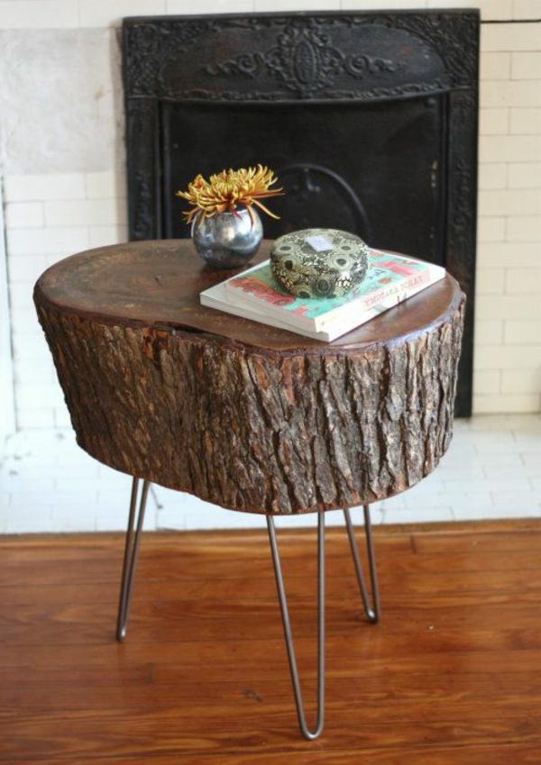 baumstamm tisch super originelle designs. Black Bedroom Furniture Sets. Home Design Ideas